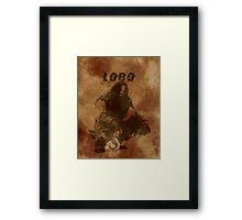 Lobo Silhouette (w/ Full Background) Framed Print