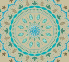 Blue Beige Mandalas Sticker