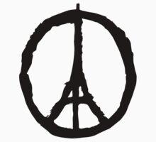 Peace for Paris - black - paix pour Paris - Pray by welikestuff