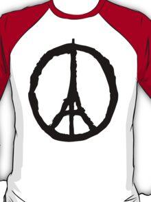 Peace for Paris - black - paix pour Paris - Pray T-Shirt