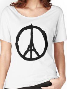 Peace for Paris - black - paix pour Paris - Pray Women's Relaxed Fit T-Shirt