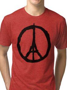 Peace for Paris - black - paix pour Paris - Pray Tri-blend T-Shirt