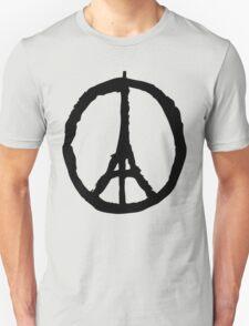 Peace for Paris - black - paix pour Paris - Pray Unisex T-Shirt