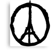 Peace for Paris - black - paix pour Paris - Pray Canvas Print