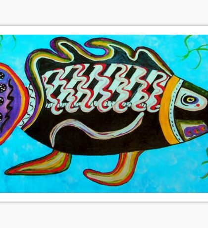 """BANDIT - the fish that """"resurfaced"""" from the flames Sticker"""