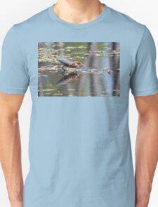 Green Heron Reflections Unisex T-Shirt