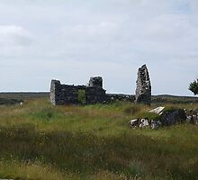 Stone House ruin Cliften Connemara Galway  by Declan Carr