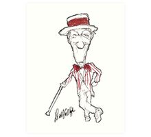 Official Dick Van Dyke Jolly Holiday Sketch Art Print