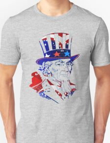 Patriotic Portrait -USA Flag-Stars & Stripes Unisex T-Shirt