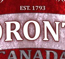Toronto Canada red grunge shield Sticker