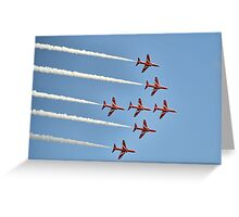 Red Arrows Over Lyme, Dorset Uk -2 Greeting Card