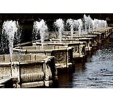 Water  columns Photographic Print