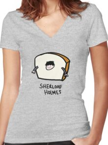 Sherloaf Holmes Women's Fitted V-Neck T-Shirt