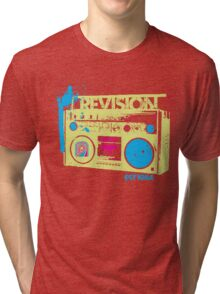 1980's radio inspired tee Revision Womans.... Tri-blend T-Shirt