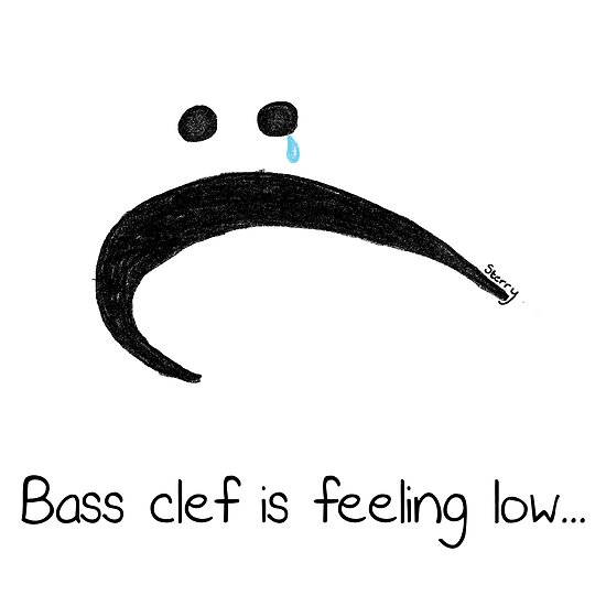 Bass Clef is Feeling Low! by Hannah Sterry