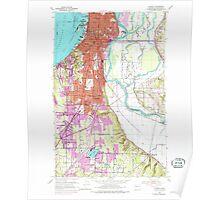 USGS Topo Map Washington State WA Everett 241094 1953 24000 Poster