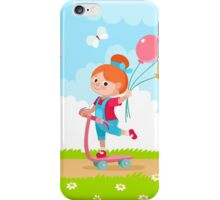 Girl with Balloons iPhone Case/Skin
