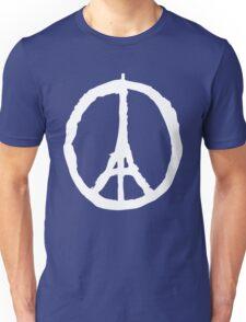 Peace for Paris - white - paix pour Paris - Pray Unisex T-Shirt