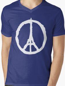 Peace for Paris - white - paix pour Paris - Pray Mens V-Neck T-Shirt