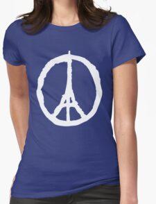 Peace for Paris - white - paix pour Paris - Pray Womens Fitted T-Shirt