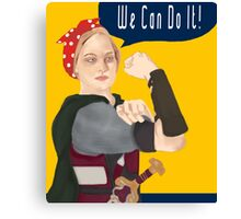 Feminist Icon; Eowyn The Riveter Canvas Print