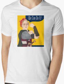 Feminist Icon; Eowyn The Riveter Mens V-Neck T-Shirt