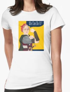 Feminist Icon; Eowyn The Riveter Womens Fitted T-Shirt