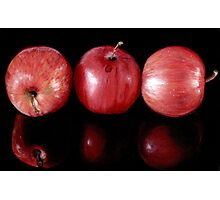 Red Apples in Colour Pencils Photographic Print