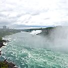Niagara River and Falls by KAREN SCHMIDT