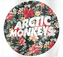 Arctic Monkeys Floral  Poster