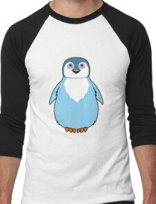 Light Blue Baby Penguin Men's Baseball ¾ T-Shirt