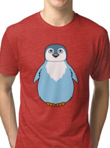 Light Blue Baby Penguin Tri-blend T-Shirt