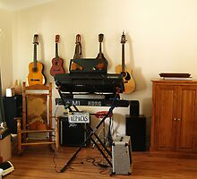 Living Room... but really Mike's Music Room by BCallahan