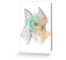 Simplistic Owl Greeting Card