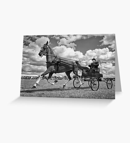 One Horse Power Greeting Card