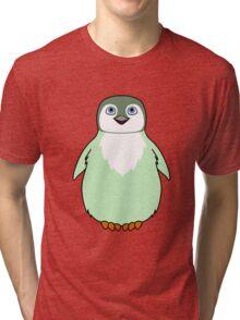 Light Green Baby Penguin Tri-blend T-Shirt