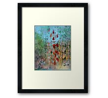 garden observation in blue I Framed Print