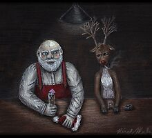 Santa and Rudolph walk into a bar... by EyeplantDesign