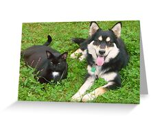 Rosie and Mia - Best Friends Greeting Card