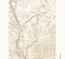 USGS Topo Map Washington State WA Palouse Falls 243068 1981 24000 by wetdryvac
