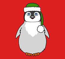 Christmas Penguin with Green Santa Hat Unisex T-Shirt