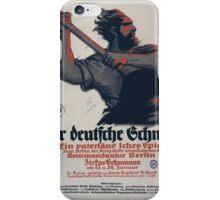 Der deutsche Schmied ein vaterländisches Spiel 1292 iPhone Case/Skin