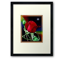 A Rose and a Star Framed Print