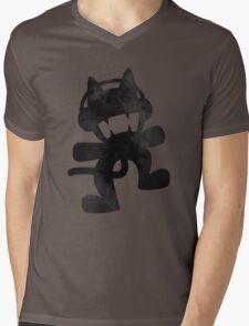 Smoke cat Mens V-Neck T-Shirt