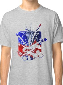 USA Flag And Celebration Symbols Classic T-Shirt