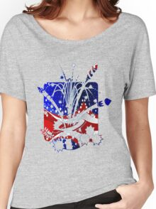 USA Flag And Celebration Symbols Women's Relaxed Fit T-Shirt