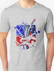 USA Flag And Celebration Symbols T-Shirt
