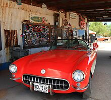 Route 66 Corvette by Frank Romeo