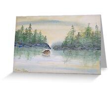 Lake reflections. Greeting Card