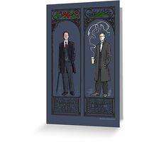 Mycroft and Greg Greeting Card
